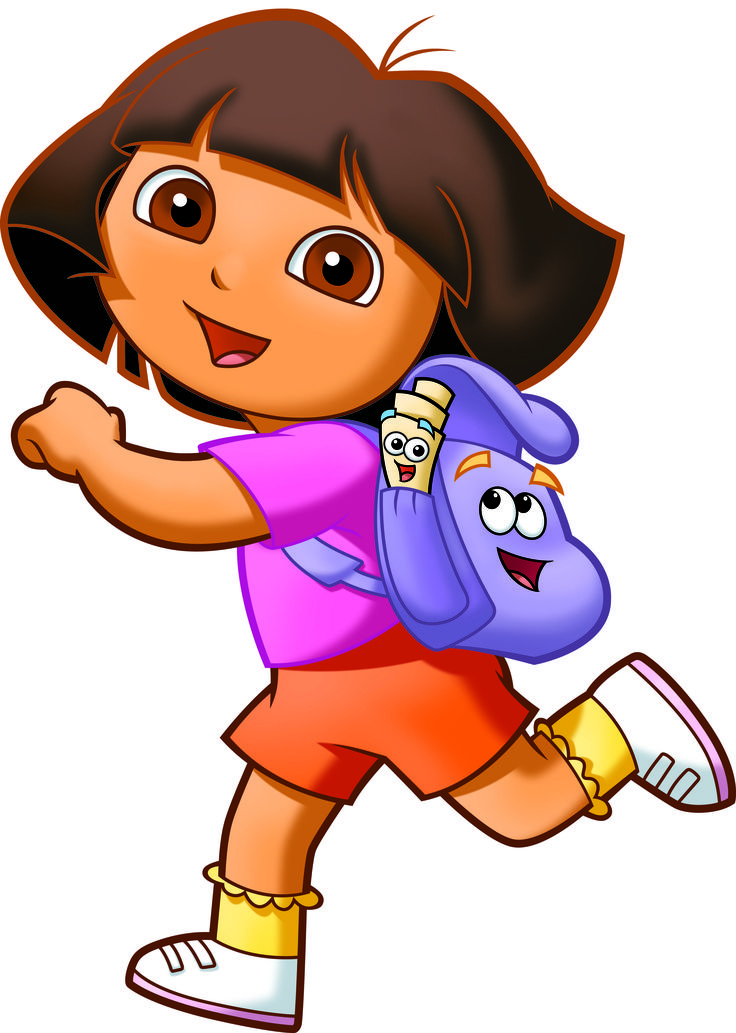 Dora, Back Pack & Map, Dora the Explorer.