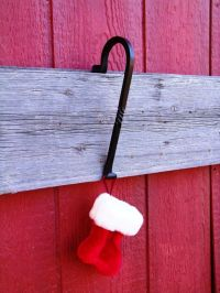 Fireplace Mantle Stocking Hanger, Scrolled End