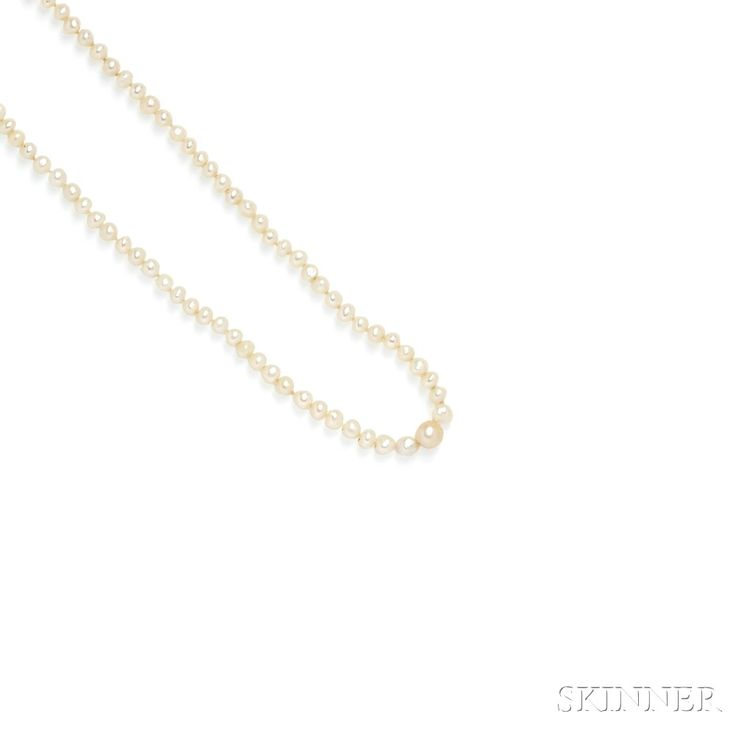Natural Pearl Necklace | Sale Number 2746B, Lot Number 165 | Skinner Auctioneers