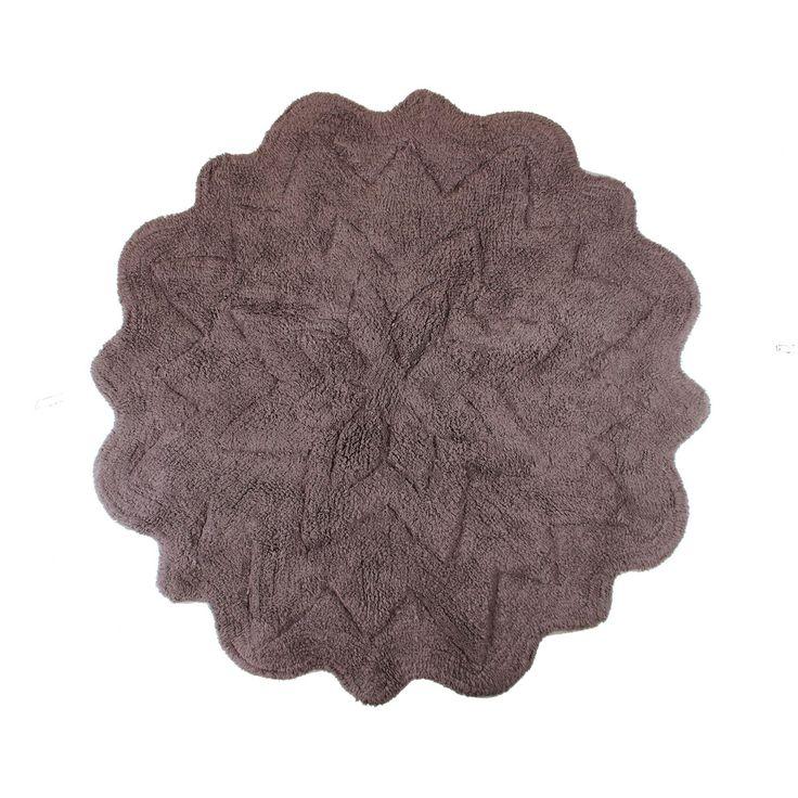 Sherry Kline Tufted Petals Cotton Round Bath Rug