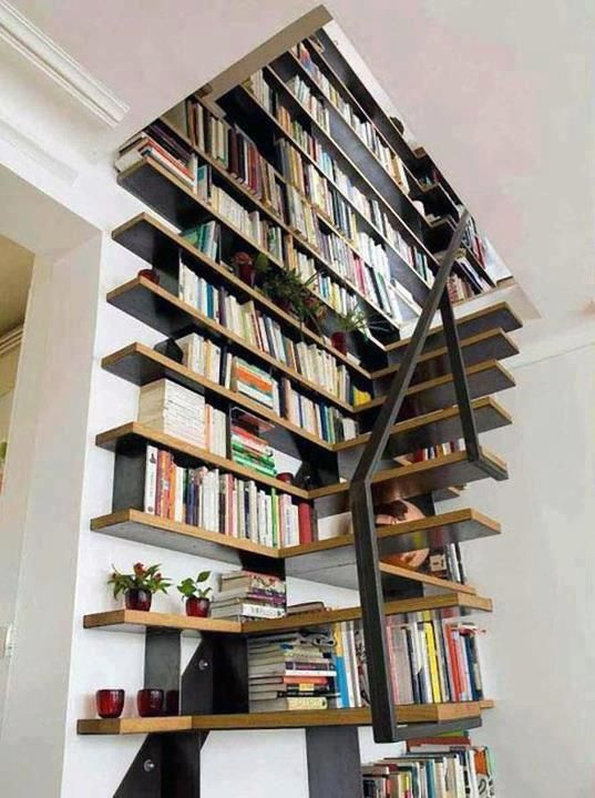 Bookcase Stairs Stair/wall Bookcase | Book Case Designs | Pinterest