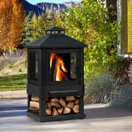 Trestle Wood-Burning Fire Pit.