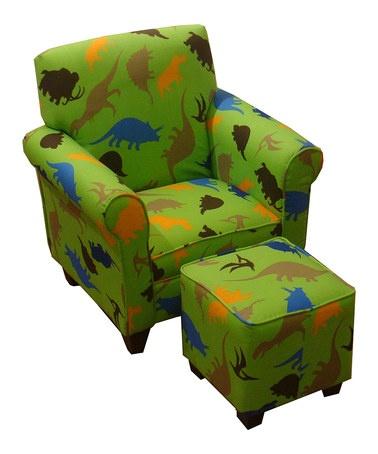Green Dinosaur Chair  Ottoman
