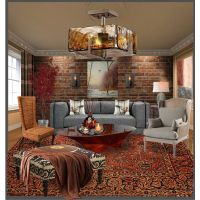 Rust and Gray Livng Space | Living Room Decor | Pinterest