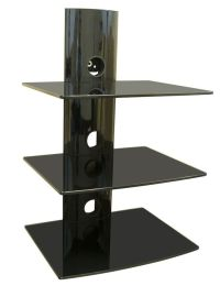 TV Wall Mount Shelving Bracket, 3 Shelf Component, Shelves ...