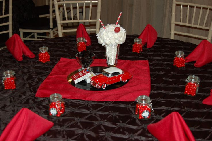 1950s Table Decoration  Edible Centerpiece  Diecast Car