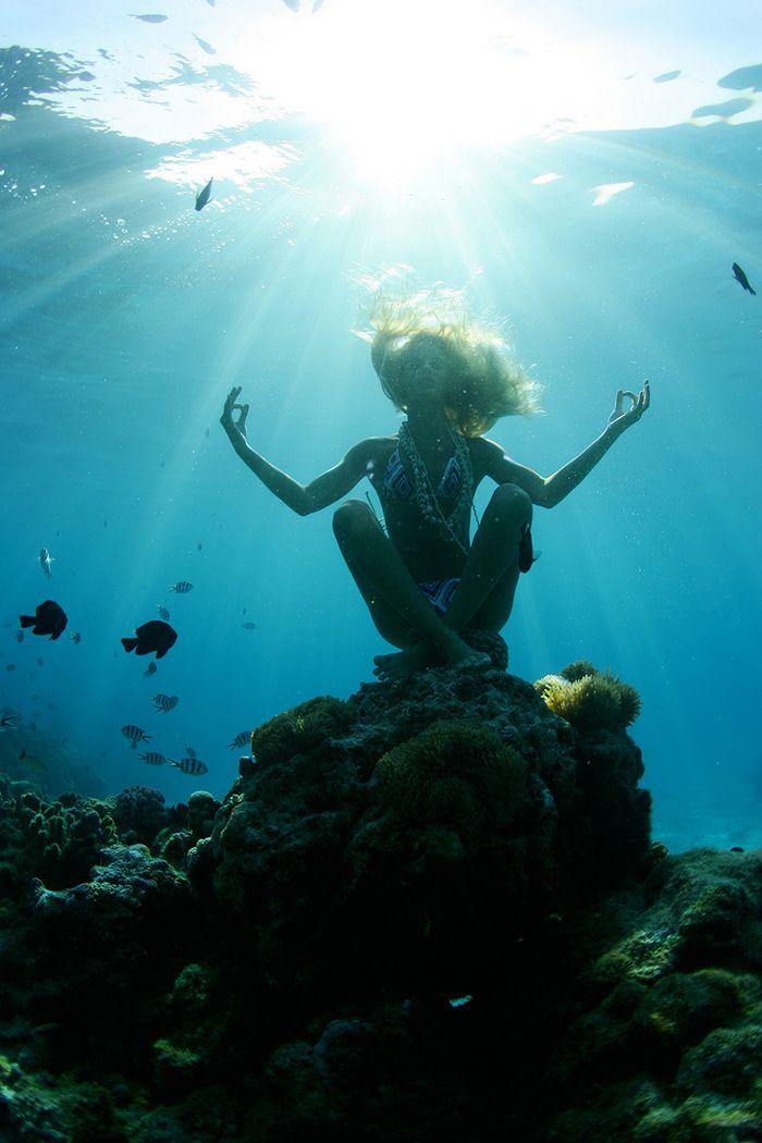 Relaxing # underwater # # meditazione oceano