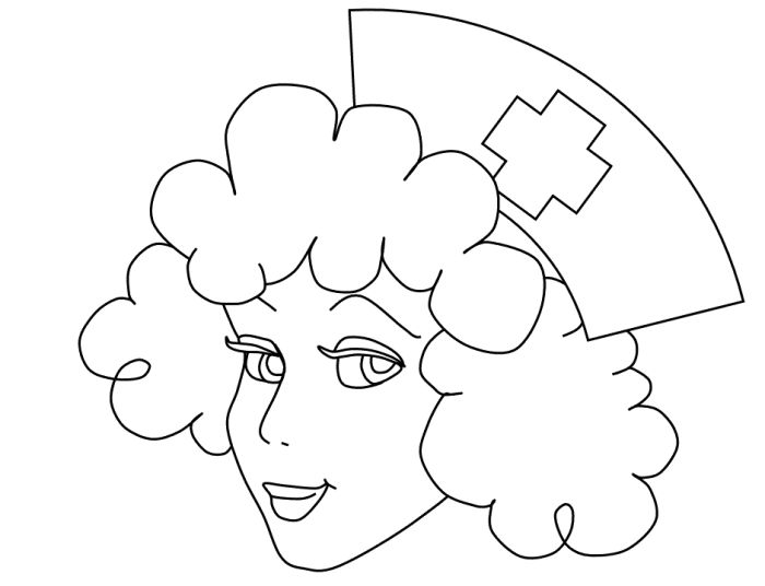 Nurse Hat Page Coloring Pages