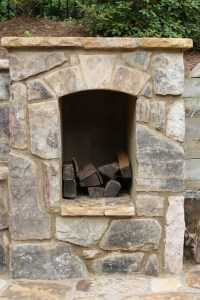 Wood Box for Outdoor Fireplace | Fireplaces and Firepits ...