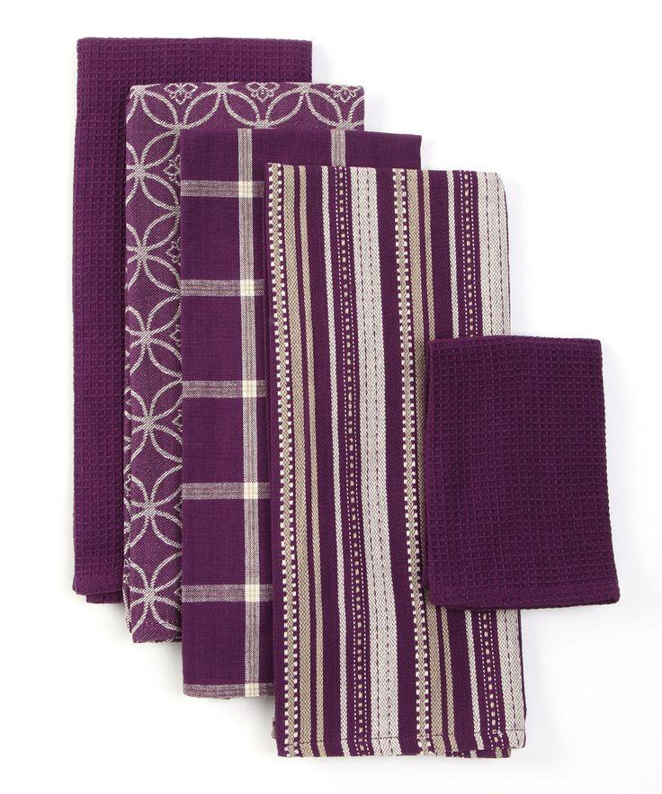 Purple Kitchen Towel Set  Purple kitchen  Pinterest