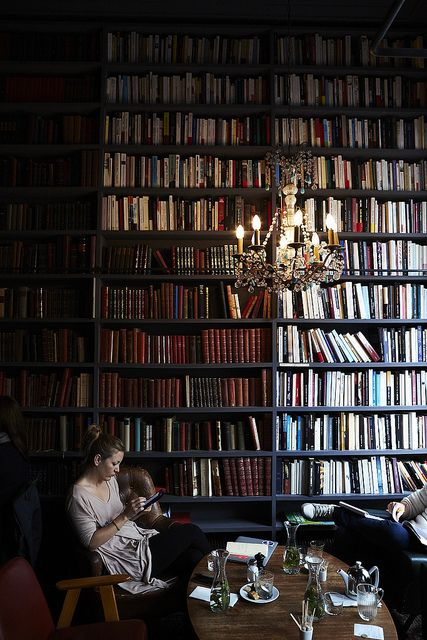 Merci used book café in Paris, photo by Nicole Franzen
