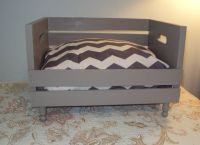 Pet Bed Recycled Wood Crate Pampered pets Spoiled Rotten ...