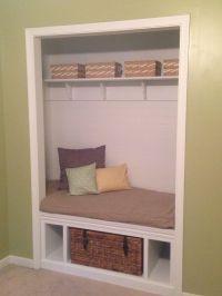 Closet bench seat | Around the House | Pinterest