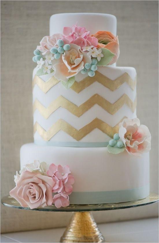 Chevron wedding cake by Erica obrien #weddings #cake #weddingcake #chevron #chevronweddings #themedweddings #ericaobriencakes #gold #mint #pink #peach #jevel #jevelwedding #jevelweddingplanning Follow Us: www.jevelweddingplanning.com www.facebook.com/jevelweddingplanning/  www.pinterest.com/jevelwedding/ www.linkedin.com/in/jevel/ www.twitter.com/jevelwedding/