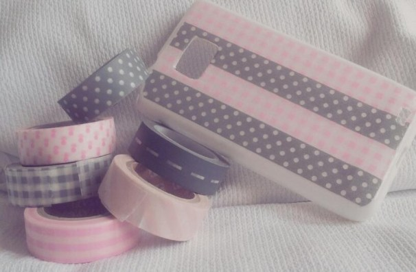 mobil case and washi tape