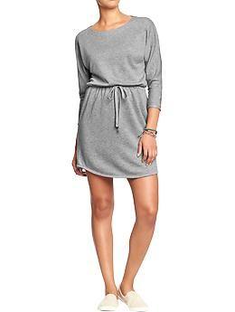 Women's Dolman-Sleeve Terry-Fleece Dresses | Old Navy