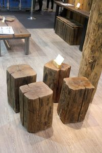 tree stump stool