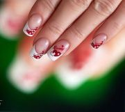 valentine day french manicure
