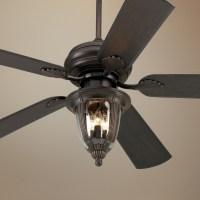 """52"""" Casa Vieja Tropical Bronze Light Outdoor Ceiling Fan"""