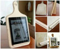 Kitchen ipad holder | DIY | Pinterest