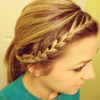Braided back into ponytail | Hair | Pinterest