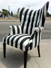 Striped black and white chair. | FURNITURE Finds | Pinterest