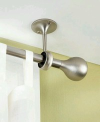 Hanging curtain rod from the ceiling