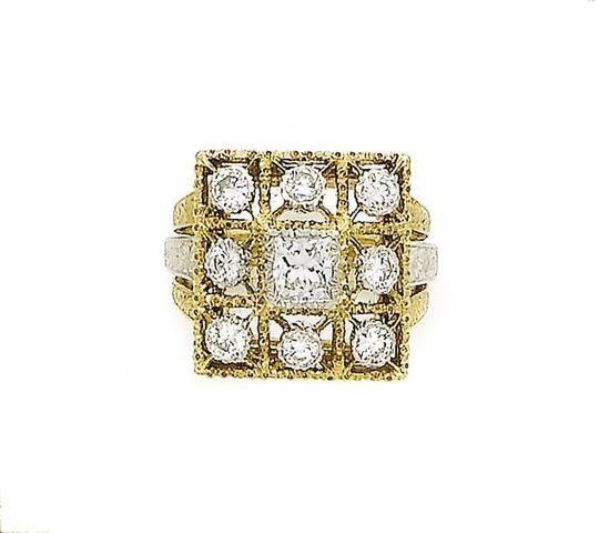 A diamond dress ring, by Buccellati