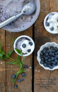 Blueberry Coconut Ice Cream with Dark Chocolate bits - BoulderLocavore