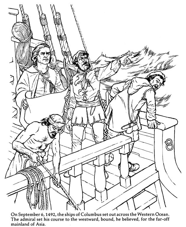 Christopher Columbus Coloring Activities Coloring Pages