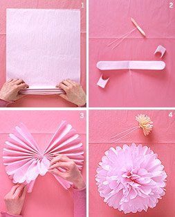 How to make tissue pom poms