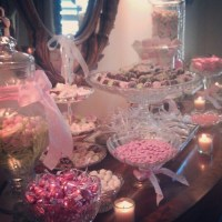 Baby shower candy station | Shower/Reception Ideas | Pinterest