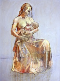 Breastfeeding art nursing