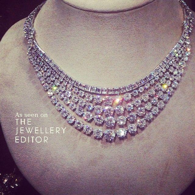 Diamond necklace by @chaumet @christiesinc #biennaleparis #diamonds #necklaces www.instagram.com/thejewelleryed