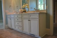 Painted vanity cabinets