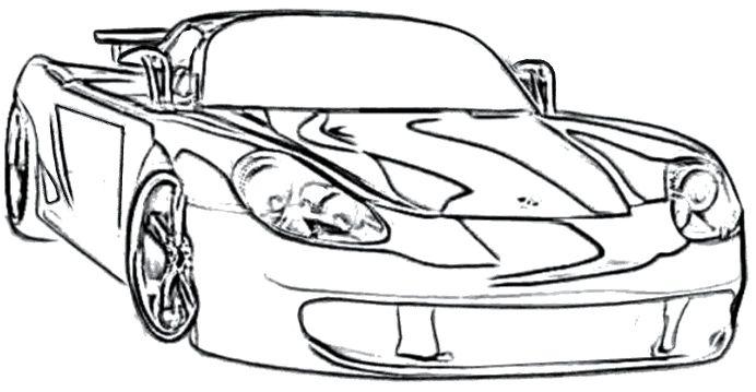Porsche 918 Spyder Coloring Pages Coloring Pages