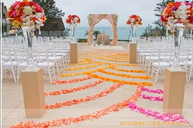 L'auberge Stunning, Rich Ombre Wedding  jennifer cole florals #ombrewedding #weddingdecor