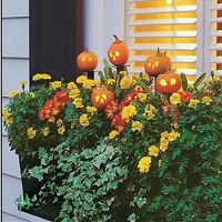 window boxes | Fall Wreaths and Decorations | Pinterest