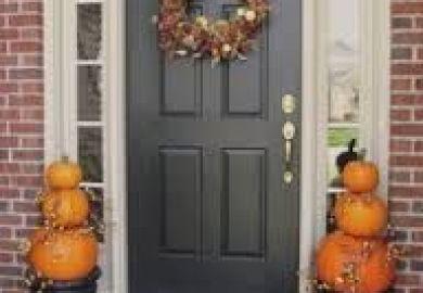 Black Garage Doors With Brick