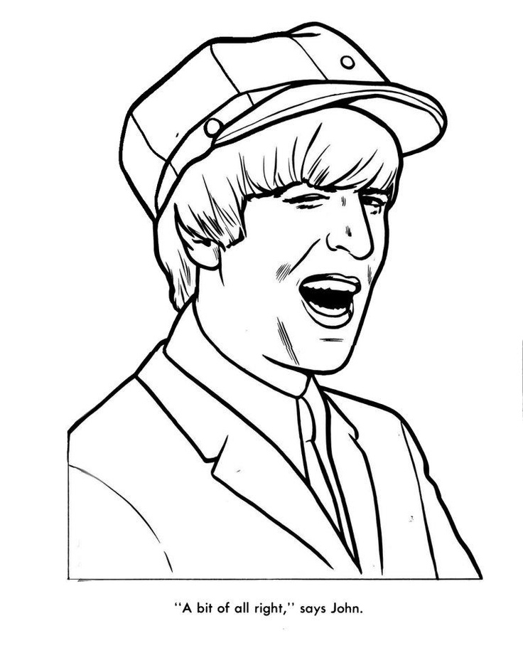 the beatles coloring page 12  color pages  pinterest