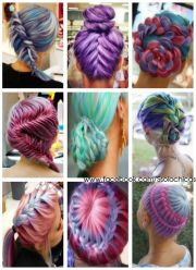 crazy hair styles and colors