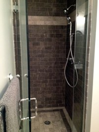 Tile shower stall   New home projects   Pinterest