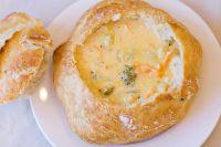 Broccoli Cheddar Soup in a Bread Bowl - | tasty treats ...