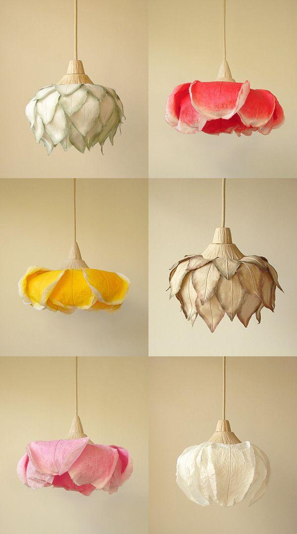 flower lamps Beautiful Paper Lamps by Sachie Muramatsu.