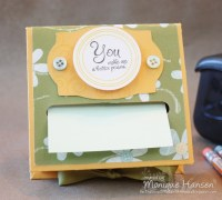 Post-It Note holder | DIY | Pinterest