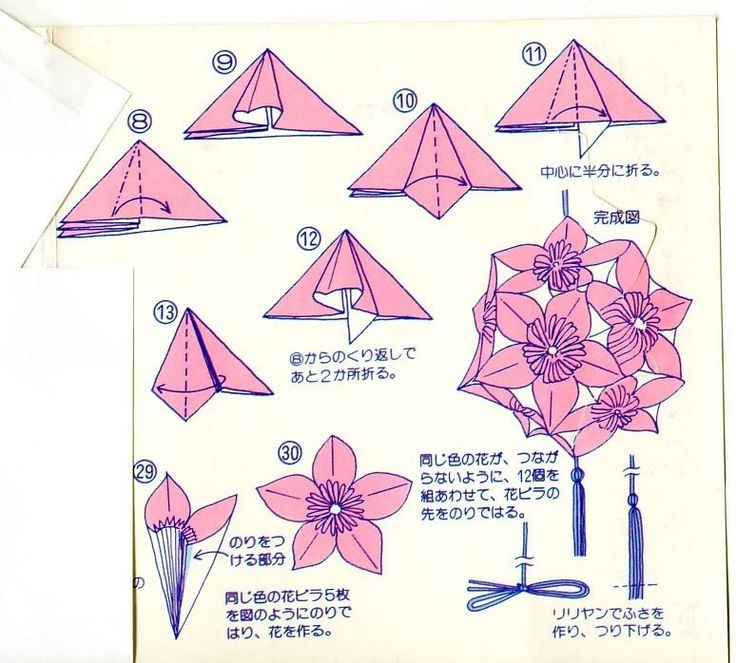 origami flower instruction diagram wiring 3 lights 2 switches flowers instructions diagrams and