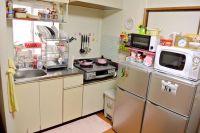Adorable Japanese apartment kitchen!