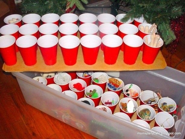 Use plastic cups to neatly store your ornaments. | 38 Clever Christmas Hacks That Will Make Your Life Easier