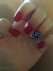 fourth of july acrylic nails