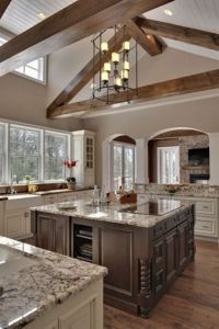 Exposed wood beams | For the Home | Pinterest
